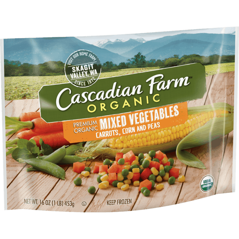 $1.00 for Cascadian Farm Frozen Fruits & Veggies (expiring on Wednesday, 05/20/2020). Offer available at Sprouts Farmers Market.