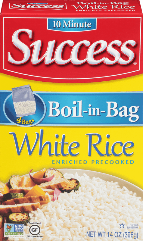 $0.50 for Success® Boil-in-Bag Rice (expiring on Sunday, 02/02/2020). Offer available at Walmart.