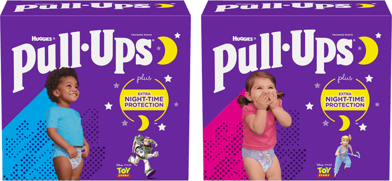 $2.00 for Huggies Pull-Ups Nighttime Training Pants (expiring on Tuesday, 08/10/2021). Offer available at multiple stores.
