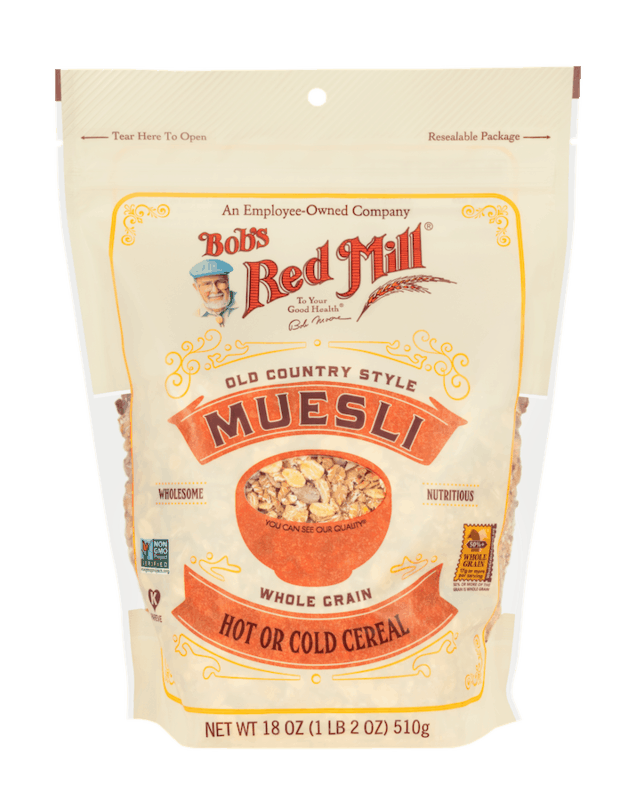 $1.00 for Bob's Red Mill Old Country Style Muesli (expiring on Monday, 03/29/2021). Offer available at Walmart, Walmart Pickup & Delivery.