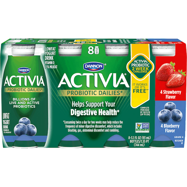 $1.00 for Activia® Dailies* Lowfat Yogurt Drink (expiring on Wednesday, 01/02/2019). Offer available at Walmart.