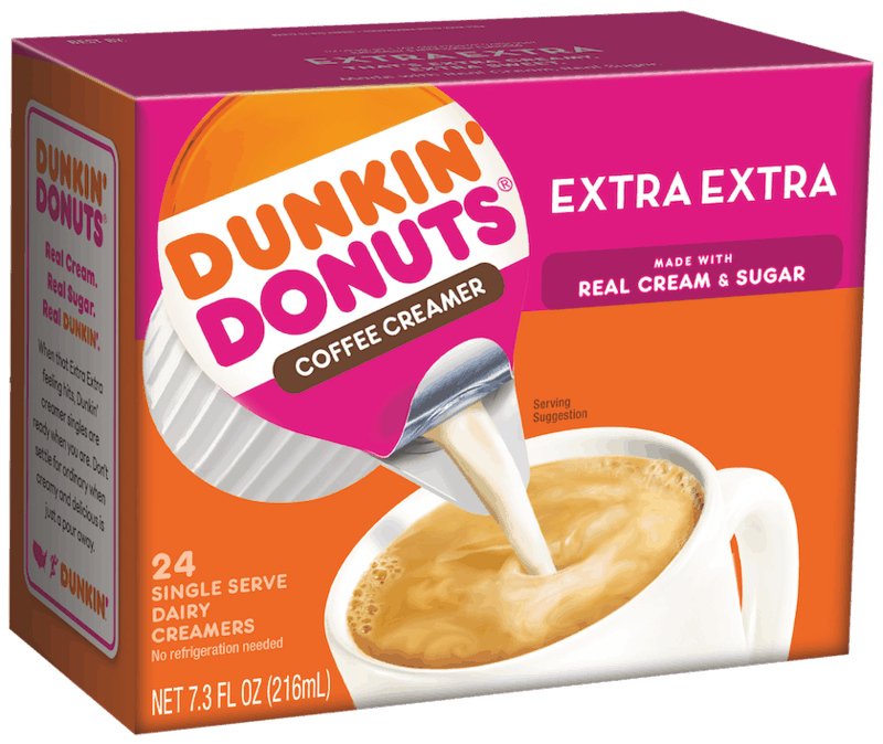 $1.00 for Dunkin' Donuts Coffee Creamer (expiring on Monday, 05/31/2021). Offer available at multiple stores.