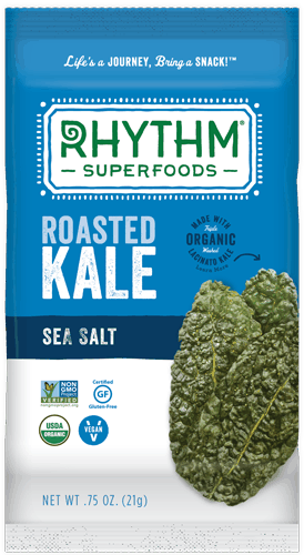 $1.00 for Rhythm Superfoods® Roasted Kale. Offer available at multiple stores.