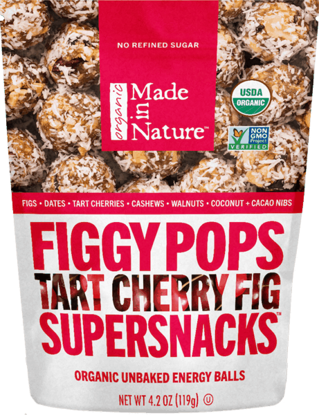 $1.50 for Made In Nature™ Figgy Pops Supersnacks. Offer available at Walmart.