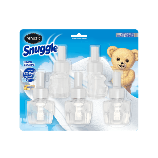 $5.00 for Renuzit® Snuggle® Linen Escape 5 ct. Oil Refills (expiring on Wednesday, 07/03/2019). Offer available at Walmart.
