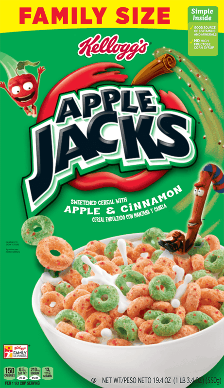 $0.50 for Kellogg's Apple Jacks Cereal (expiring on Saturday, 11/14/2020). Offer available at Walmart, Walmart Pickup & Delivery.