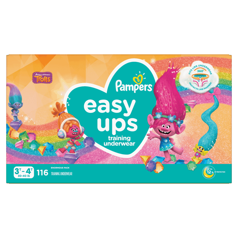 $3.00 for Pampers Easy-Ups Training Underwear (expiring on Tuesday, 06/30/2020). Offer available at Walmart, Walmart Grocery.