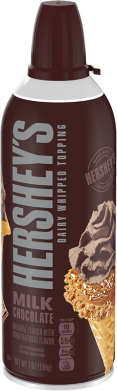 $0.50 for HERSHEY'S Milk Chocolate Dairy Whipped Topping (expiring on Thursday, 04/25/2019). Offer available at multiple stores.