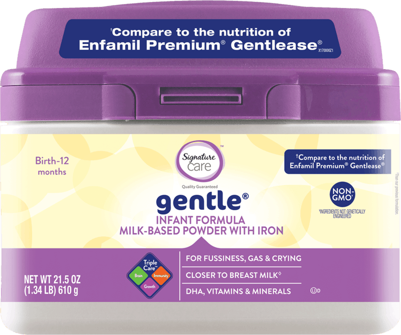 $4.00 for Signature Care™ Gentle Formula (expiring on Tuesday, 12/03/2019). Offer available at Safeway, Albertsons.