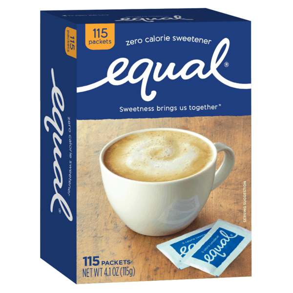 $0.50 for Equal® Zero Calorie Sweetener. Offer available at multiple stores.