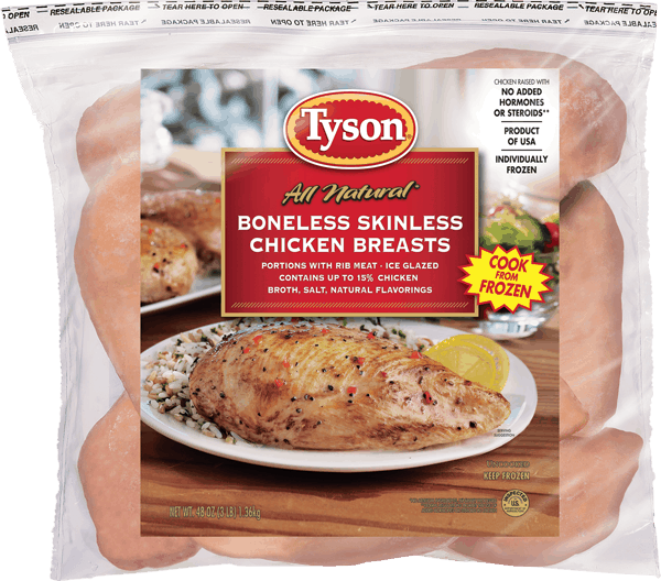 $1.00 for Tyson® All Natural® Frozen Chicken (expiring on Thursday, 11/30/2017). Offer available at Walmart.
