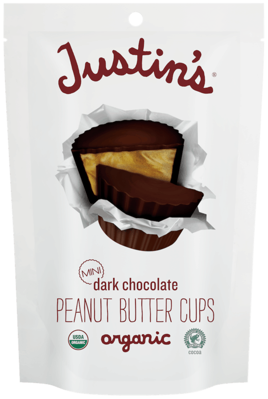 $1.00 for Justin's® Organic Mini Peanut Butter Cups. Offer available at multiple stores.
