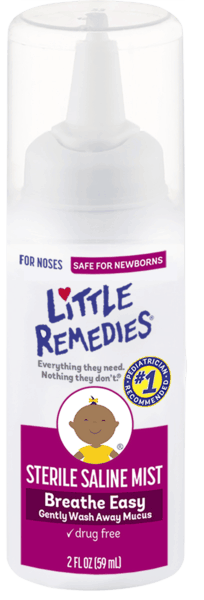 $1.50 for Little Remedies® Sterile Saline Mist. Offer available at Walgreens, CVS Pharmacy, Rite Aid.