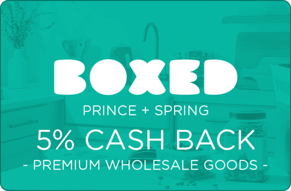 $0.00 for Boxed Prince + Spring (expiring on Sunday, 03/31/2019). Offer available at Boxed.