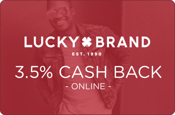 $0.00 for Lucky Brand (expiring on Wednesday, 07/03/2019). Offer available at LuckyBrand.com.