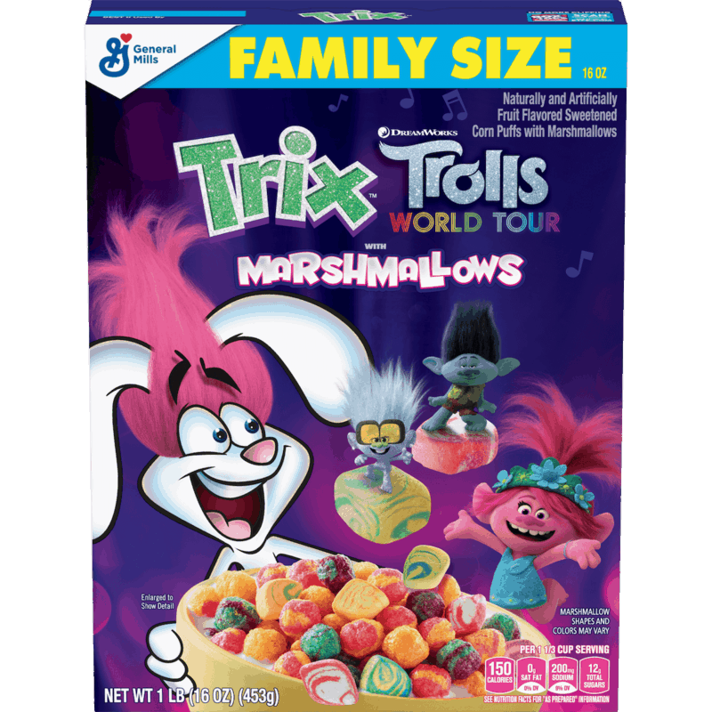 $1.00 for Trix Trolls Cereal. Offer available at Walmart.