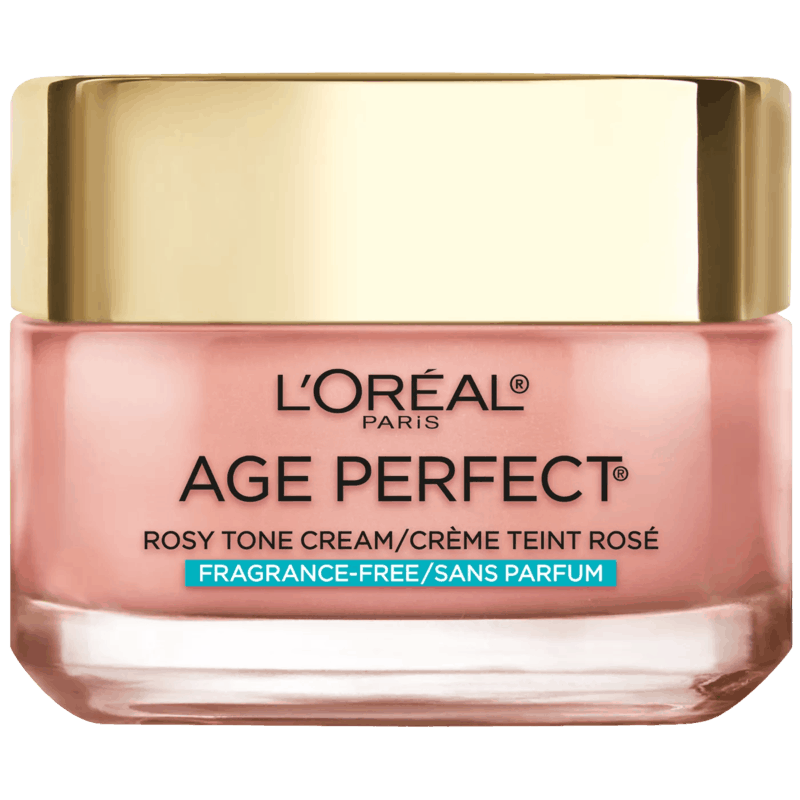 $1.00 for L'Oreal Age Perfect Rosy Tone Fragrance Free Face Moisturizer (expiring on Saturday, 10/31/2020). Offer available at ULTA.com.