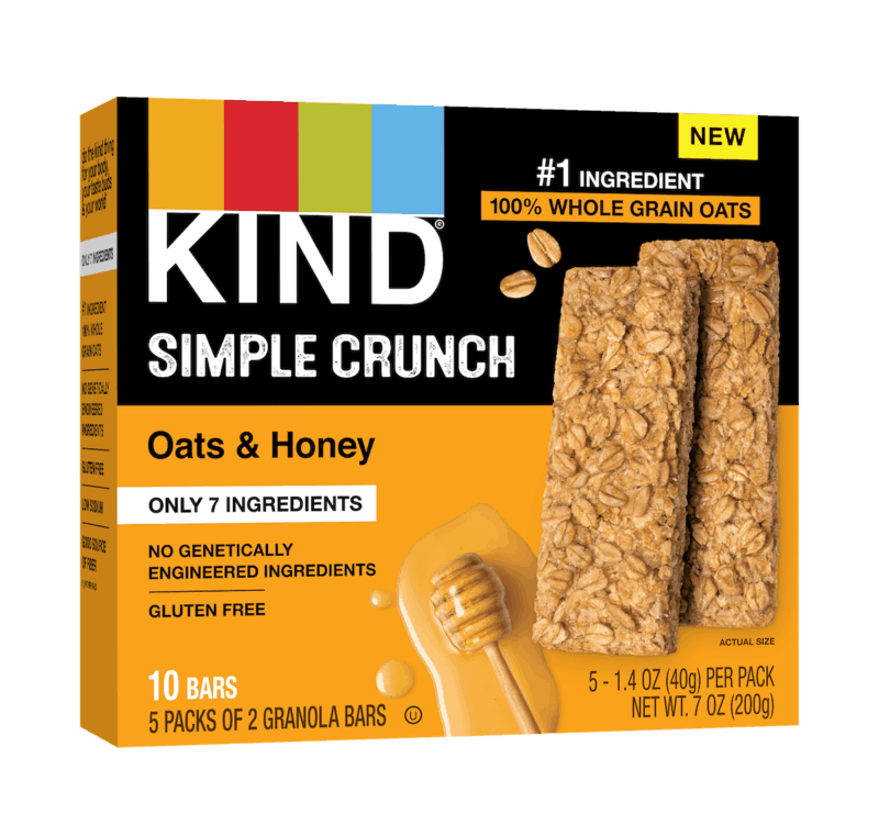 $0.50 for KIND Simple Crunch (expiring on Thursday, 04/30/2020). Offer available at multiple stores.