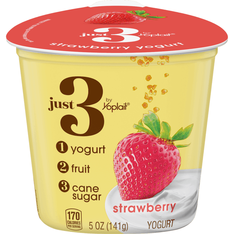 $1.00 for Just 3 by Yoplait Yogurt (expiring on Saturday, 10/31/2020). Offer available at Meijer.