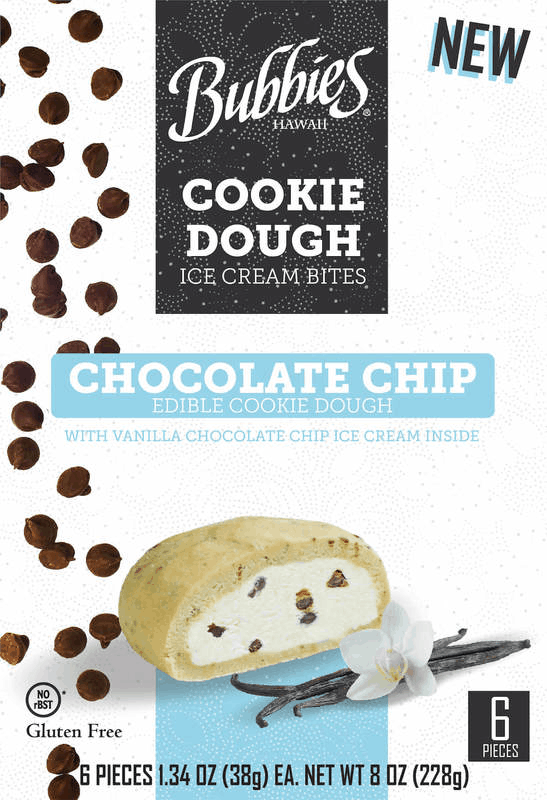 $1.50 for Bubbies Chocolate Chip Cookie Dough Ice Cream Bites (expiring on Thursday, 10/01/2020). Offer available at ShopRite.