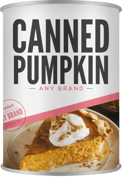 $0.25 for Canned Pumpkin - Any Brand (expiring on Monday, 10/30/2017). Offer available at multiple stores.