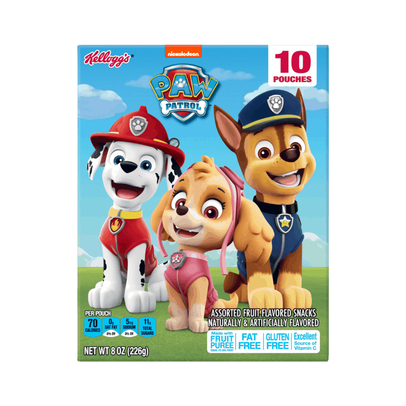 $0.25 for Kellogg's Paw Patrol Fruit Snacks (expiring on Tuesday, 06/02/2020). Offer available at multiple stores.