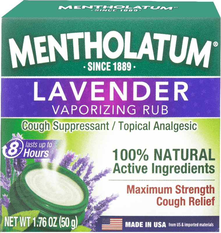 $0.50 for Mentholatum Lavender Vaporizing Chest Rub Maximum Strength (expiring on Sunday, 03/01/2020). Offer available at Walgreens.