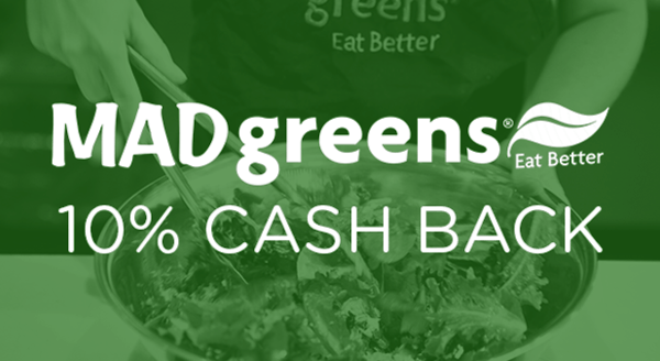 $0.00 for MAD Greens (expiring on Thursday, 04/30/2020). Offer available at MAD Greens.
