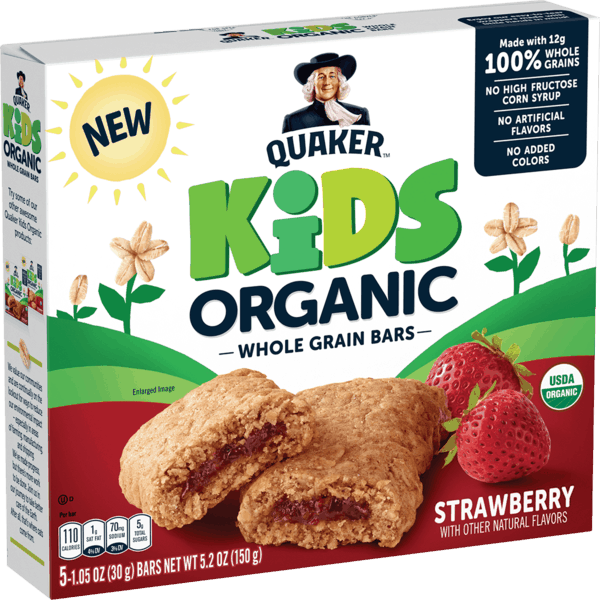 $1.00 for Quaker® Kids Organic Whole Grain Bars & Bites (expiring on Saturday, 01/25/2020). Offer available at multiple stores.