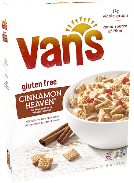 $0.50 for Van's™ Gluten Free Cereal (expiring on Friday, 11/02/2018). Offer available at multiple stores.