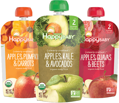$1.00 for Happy Baby® Organics Clearly Crafted™ Pouches (expiring on Sunday, 02/04/2018). Offer available at Walmart.
