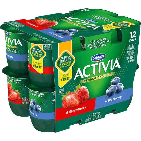 $0.75 for Activia® Probiotic Yogurt (expiring on Saturday, 03/02/2019). Offer available at Walmart.