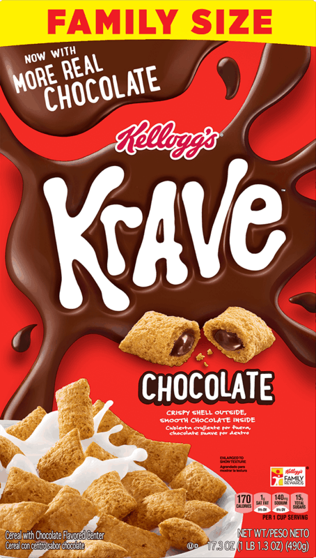$0.50 for Kellogg's Krave Cereal (expiring on Saturday, 11/14/2020). Offer available at Walmart, Walmart Pickup & Delivery.