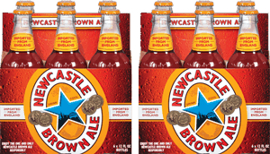 two 6 packs of newcastle