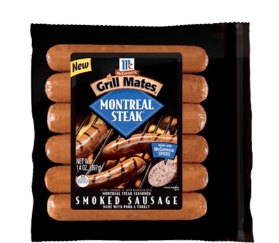 $0.75 for McCormick® Grill Mates® Smoked Sausages. Offer available at multiple stores.