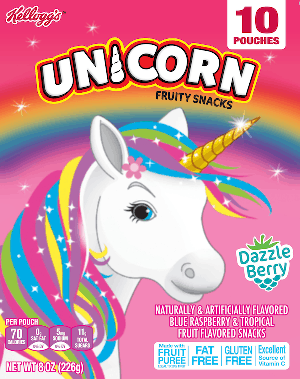 $0.50 for Kellogg's®Unicorn Fruit Flavored Snacks. Offer available at multiple stores.