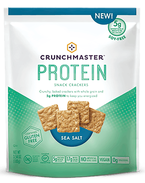 $1.00 for Crunchmaster® Protein Snack Crackers (expiring on Friday, 03/16/2018). Offer available at multiple stores.