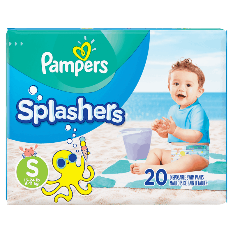 $2.00 for Pampers Splashers Diapers (expiring on Tuesday, 06/30/2020). Offer available at Walmart, Walmart Grocery.