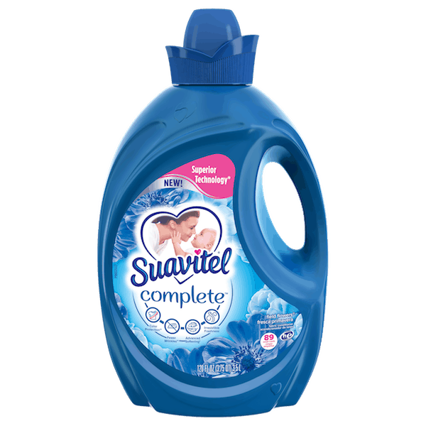 $1.00 for Suavitel® Complete™ Liquid Fabric Softener. Offer available at Walmart.