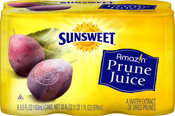 $1.25 for Sunsweet® Amaz!n™ Prune Juice. Offer available at multiple stores.