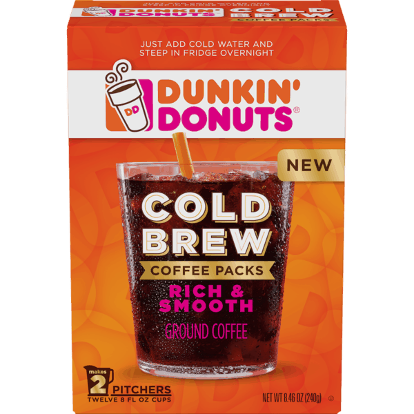 $2.50 for Dunkin' Donuts® Cold Brew Coffee Packs (expiring on Wednesday, 01/31/2018). Offer available at multiple stores.
