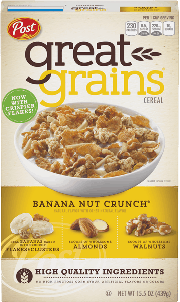 $3.50 for Great Grains® Cereal (expiring on Tuesday, 04/10/2018). Offer available at Walmart.