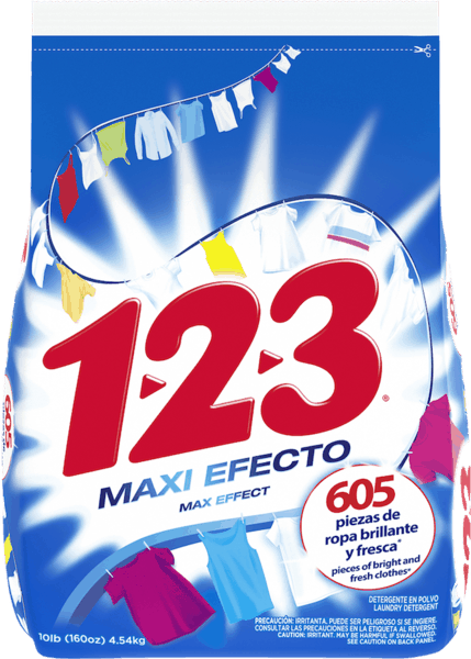 $1.00 for 1-2-3® Powder Laundry Detergent. Offer available at Walmart.