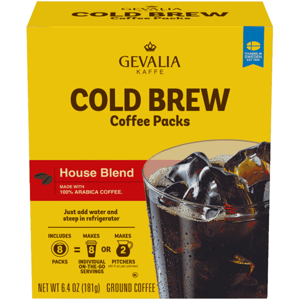 $1.50 for Gevalia Kaffe Cold Brew House Blend Coffee Packs (expiring on Wednesday, 01/02/2019). Offer available at Walmart.