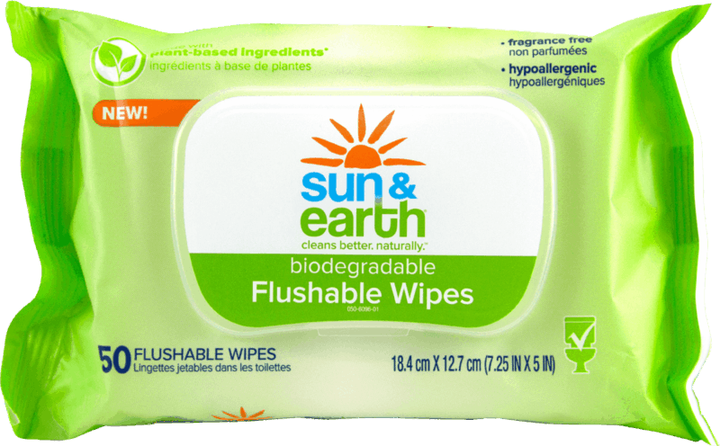 $1.00 for Sun & Earth Flushable Wipes (expiring on Saturday, 08/01/2020). Offer available at Walmart.