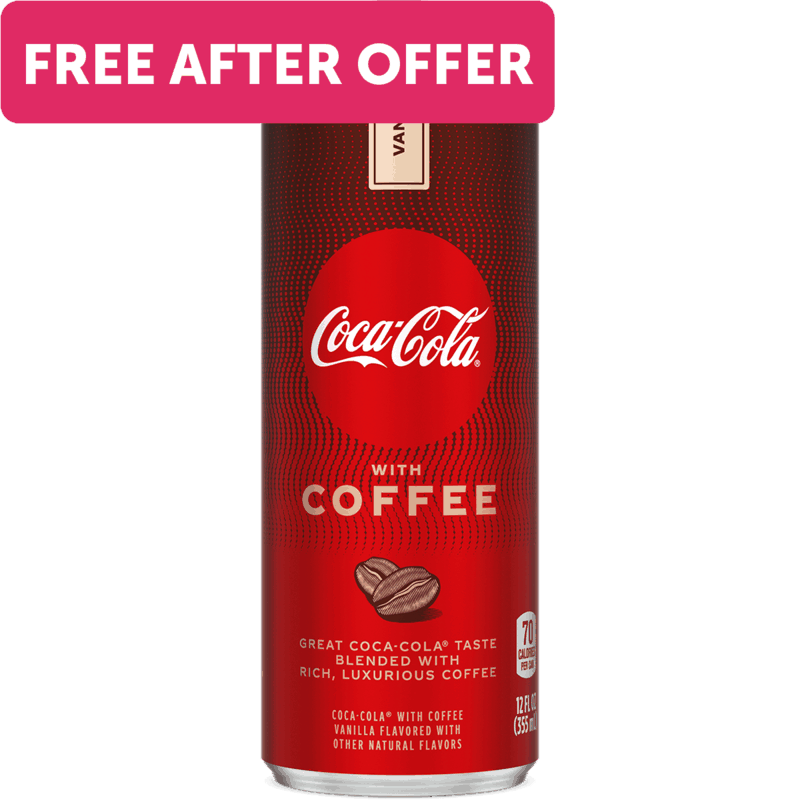 $1.88 for Coca-Cola® with Coffee. Offer available at Walmart.