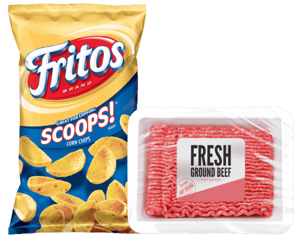$1.00 for FRITOS® Corn Chips & Ground Beef - Any Brand Combo (expiring on Tuesday, 07/31/2018). Offer available at multiple stores.