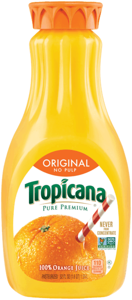 $0.50 for Tropicana Pure Premium® Orange Juice. Offer available at Target, Walmart.