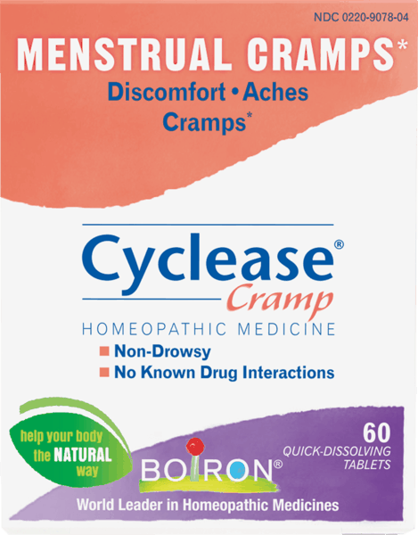 $1.00 for Boiron® Cyclease® Cramp (expiring on Wednesday, 08/31/2022). Offer available at Publix, Giant Eagle, Whole Foods Market®.