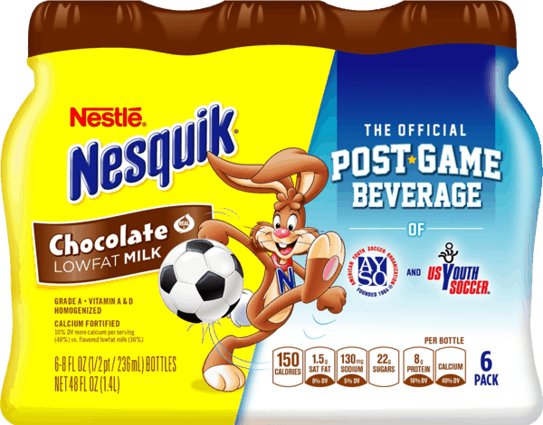 $1.25 for NESTLÉ® NESQUIK® Ready To Drink Flavored Milk. Offer available at Walmart.